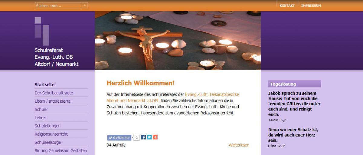 Bild von der Internetseite des Schulreferates der Dekanatsbezirke Altdorf und Neumarkt